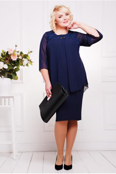 Сукня «Афіна» темно-синього кольору