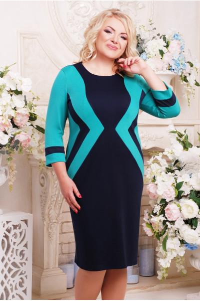 Сукня «Секрет» синя з бірюзовим
