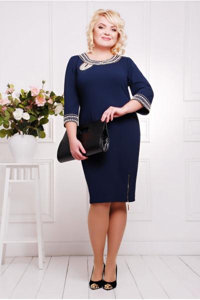 Сукня «Міраж» темно-синього кольору