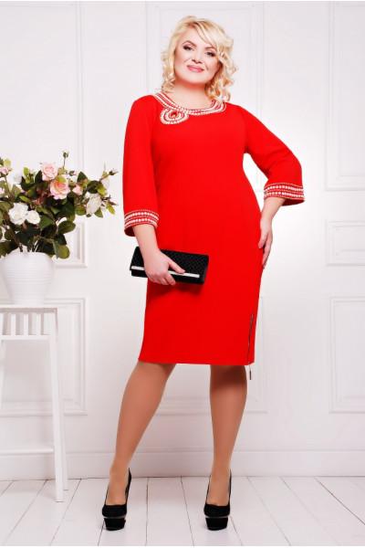 Сукня «Міраж» червоного кольору
