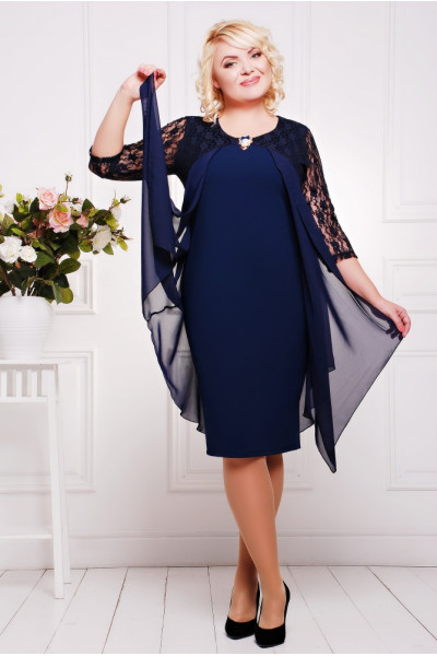 Сукня «Роза» темно-синього кольору