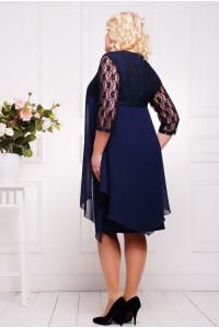 Платье «Роза» темно-синего цвета