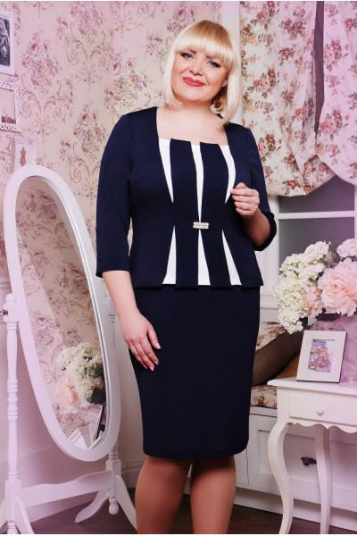 Сукня «Розалі» темно-синього кольору