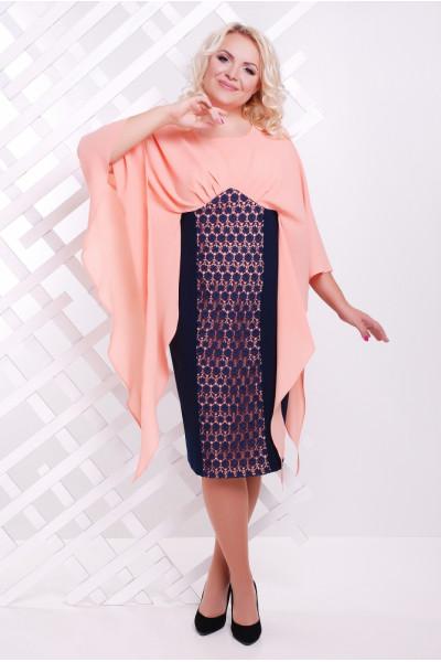 Сукня «Рима» персикового кольору