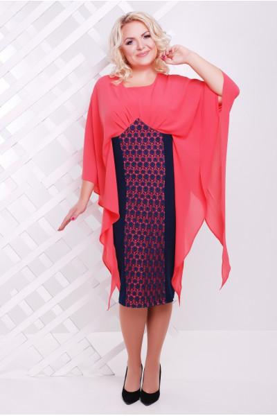 Сукня «Рима» коралового кольору