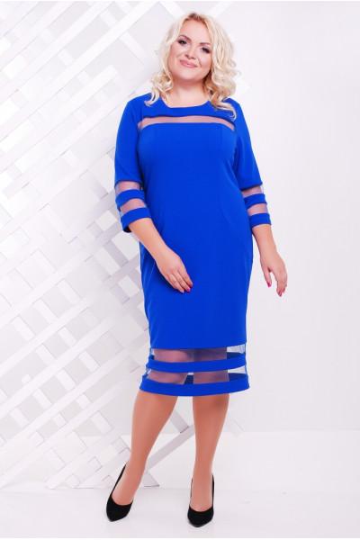 Платье «Хилари» цвета электрик