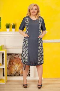 Сукня «Квіткові мотиви» графітового кольору