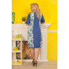 Сукня «Квіткові мотиви» біло–блакитного кольору