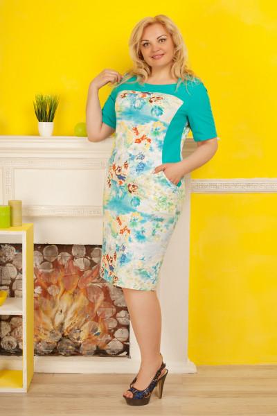 Сукня «Саллі» бірюзового кольору