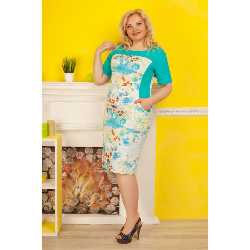 Сукня «Саллі» бірюзового кольору – купити в Києві 2d16964595c2a
