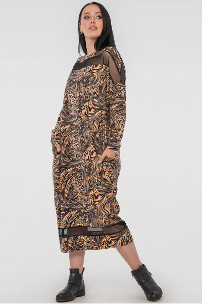 Сукня «Бігольд» з леопардовим принтом