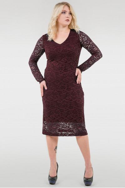 Сукня «Гаріет» бордового кольору