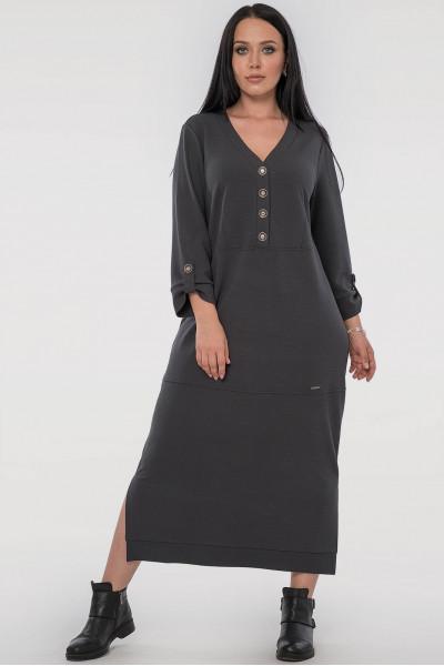 Сукня «Пелагея» темно-сірого кольору