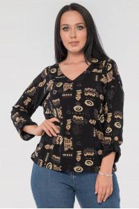 Блуза «Наталия» черного цвета