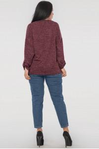 Блуза «Иренка» бордового цвета