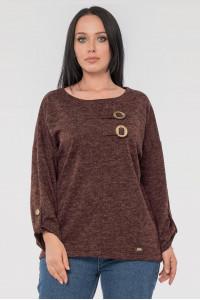 Блуза «Иренка» шоколадного цвета