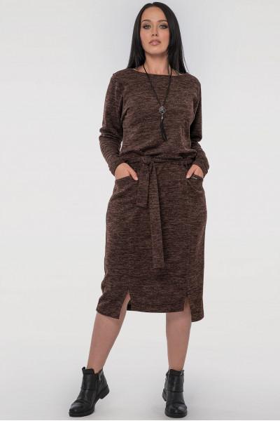 Сукня «Люба» шоколадного кольору