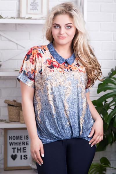 Блуза «Бланка» блакитна
