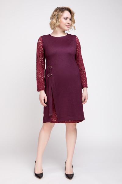 Сукня «Ксенія 2» бордового кольору