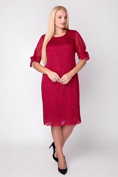Сукня «Джамала» червоного кольору