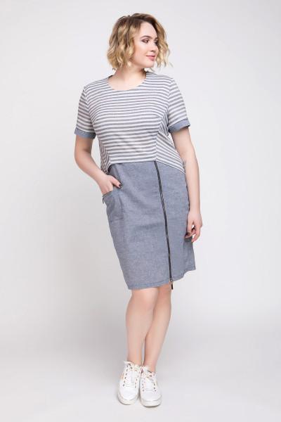 Сукня «Наїна» сірого кольору