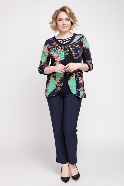 Блуза «Луїс» синього кольору