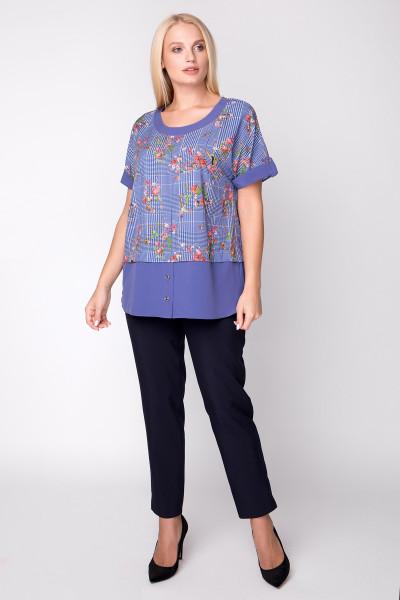Блуза «Сицилія» з принтом-колібрі