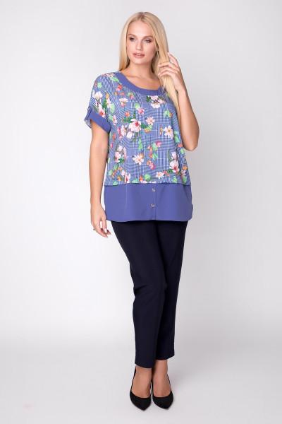 Блуза «Сицилія» з квітковим принтом
