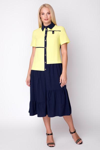 Сукня «Вікторія» жовта з синім