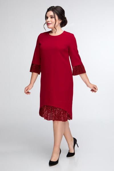 Сукня «Міла» бордового кольору