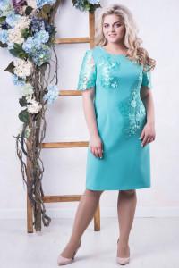 Сукня «Крісті» бірюзового кольору