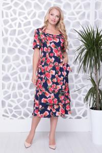 Сукня «Абелія» з принтом тюльпанами