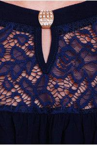 Блузон «Лина» темно-синего цвета