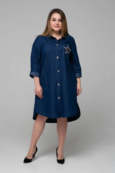 Сукня-сорочка «Дакота» синього кольору