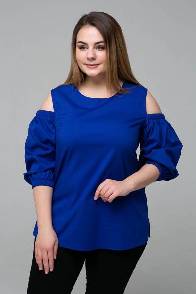Блуза «Леся» синього кольору