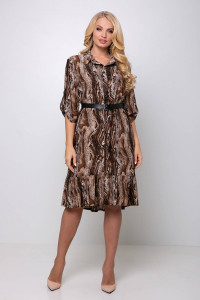 Платье «Перис» коричневого цвета