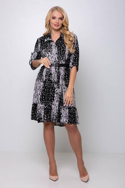 Сукня «Періс» чорного кольору з білим принтом