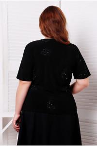 Блуза «Любава» черного цвета