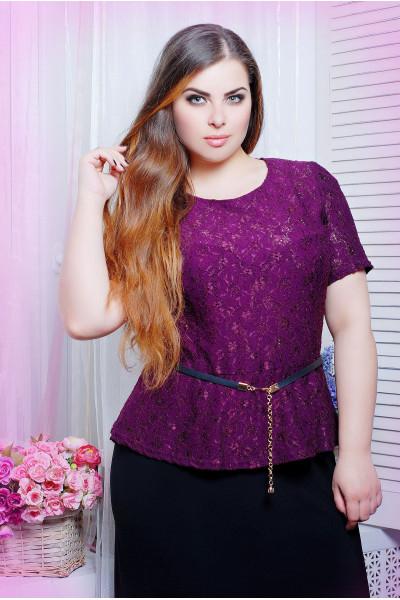 Блуза «Паула» кольору фуксії
