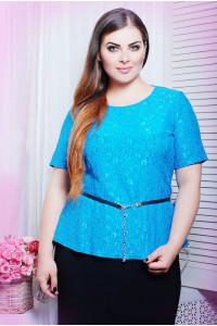 Блуза «Паула» голубого цвета