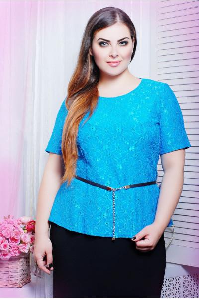 Блуза «Паула» блакитного кольору