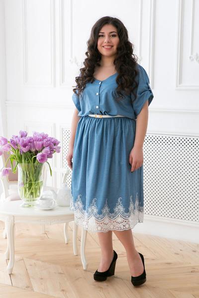 Сукня «Данелі» блакитного кольору