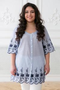 Блуза «Беата» голубого цвета