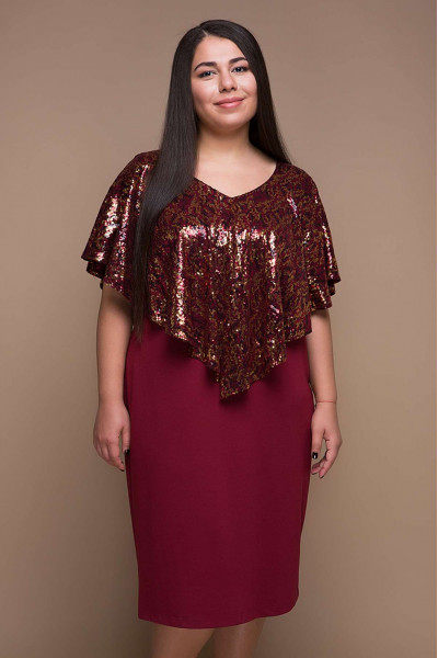 Сукня «Рубі» бордового кольору