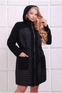 Пальто «Нора» чорного кольору