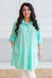 Сорочка «Ліка» бірюзового кольору