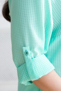 Рубашка «Лика» бирюзового цвета