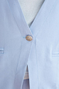 Лляний костюм «Корен» блакитного кольору