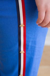 Лляний костюм «Корен» кольору електрик