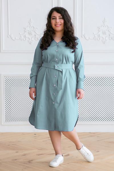 Сукня-сорочка «Тесса» світло-оливкового кольору